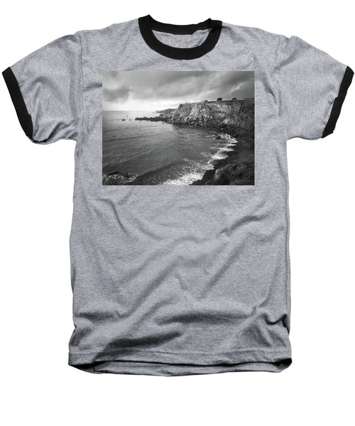 Storm Over The Eastern Shoreline Of Angra Do Heroismo Terceira Baseball T-Shirt by Kelly Hazel