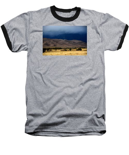 Storm Over The Great Dunes Colorado  Baseball T-Shirt