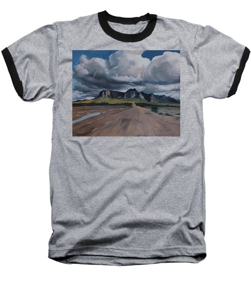 Storm Over The Superstitions Baseball T-Shirt by Barbara Barber