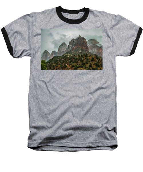 Storm Over Zion Baseball T-Shirt