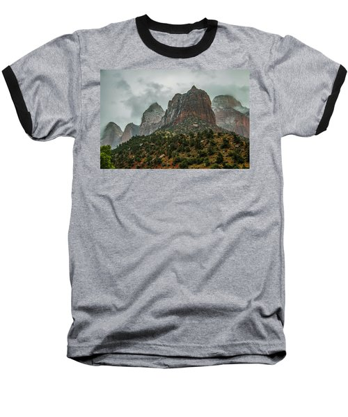 Storm Over Zion Baseball T-Shirt
