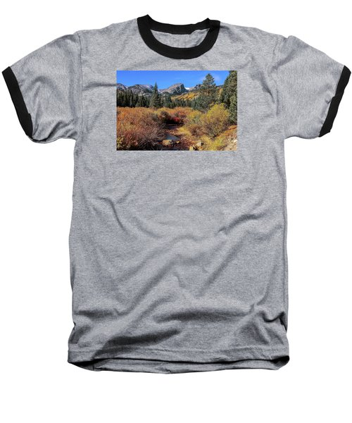 Storm Pass Trail Baseball T-Shirt by Perspective Imagery