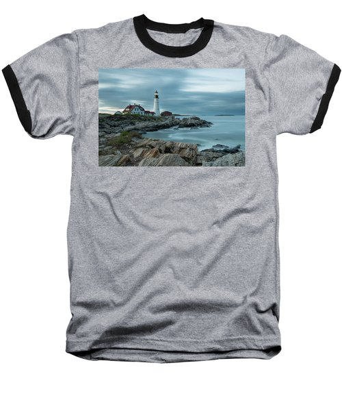 Storm Passing At Portland Head Light Baseball T-Shirt