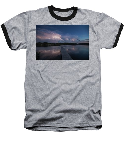 Baseball T-Shirt featuring the photograph Storm Reflection by Aaron J Groen