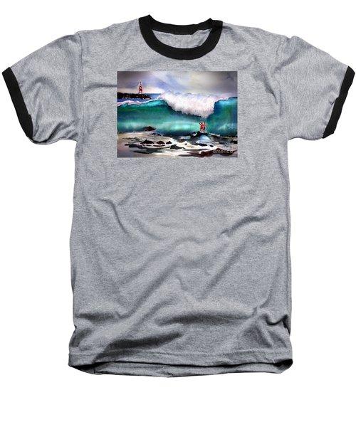 Storm Surf Moment Baseball T-Shirt