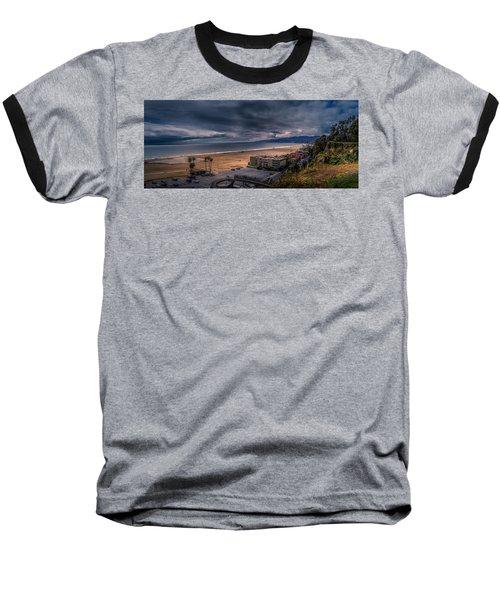 Storm Watch Over Malibu - Panarama  Baseball T-Shirt