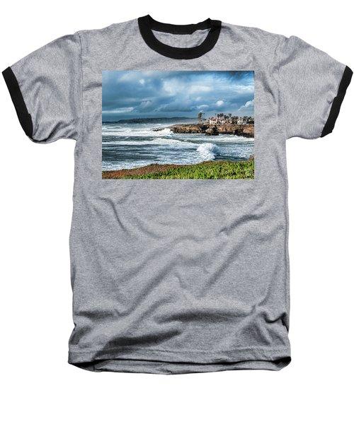 Storm Wave At Sunset Cliffs Baseball T-Shirt
