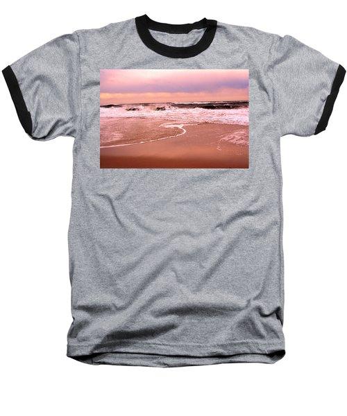 Storm Waves Hitting The Shore Baseball T-Shirt