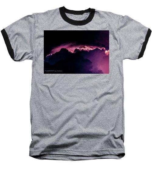 Storms Acomin' Baseball T-Shirt by Stefanie Silva
