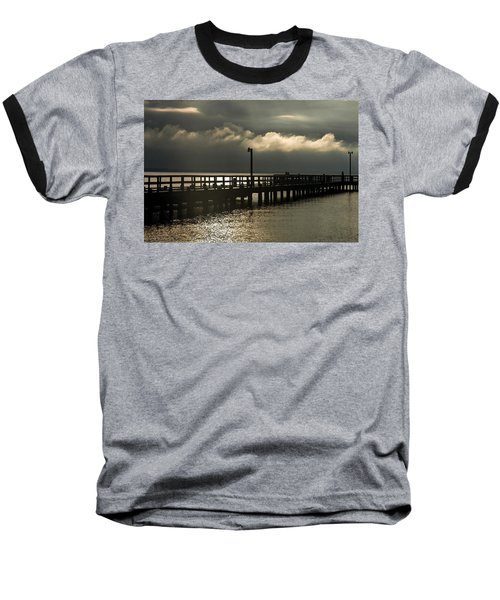 Storms Brewin' Baseball T-Shirt by Clayton Bruster