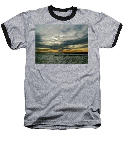 Stormy Beach Clouds Baseball T-Shirt