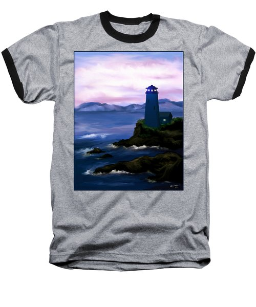 Baseball T-Shirt featuring the painting Stormy Blue Night by Susan Kinney