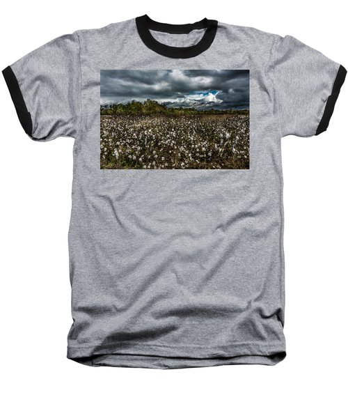 Stormy Cotton Field Baseball T-Shirt