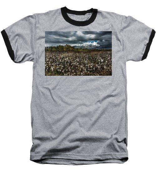 Stormy Cotton Field Baseball T-Shirt