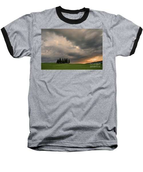 Stormy Day Baseball T-Shirt by Yuri Santin