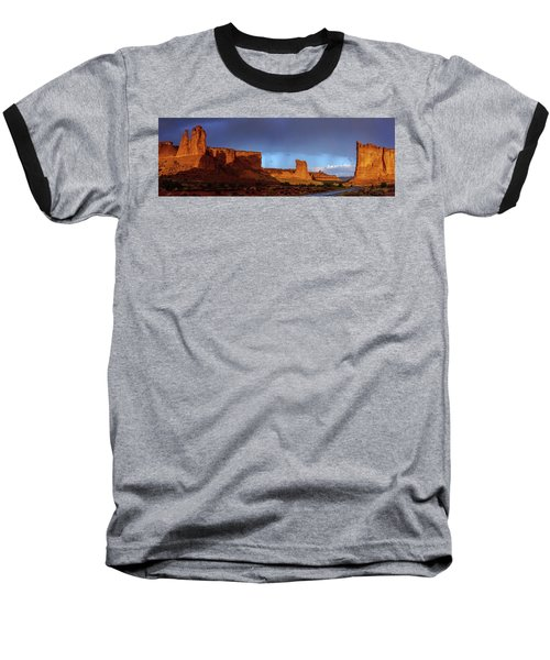 Baseball T-Shirt featuring the photograph Stormy Desert by Chad Dutson