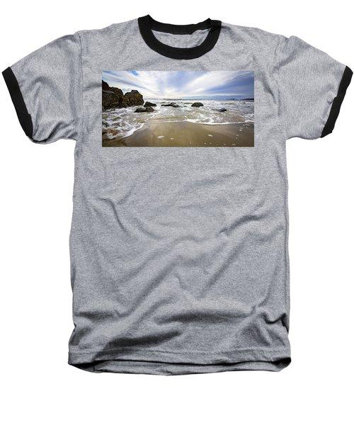 Stormy Maine Morning #1 Baseball T-Shirt