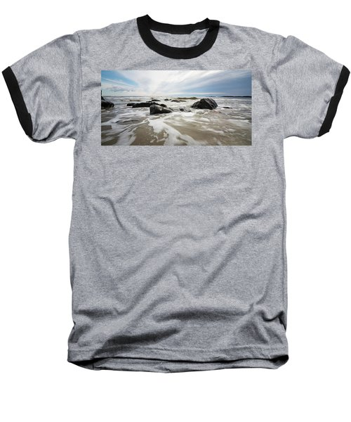 Stormy Maine Morning #3 Baseball T-Shirt