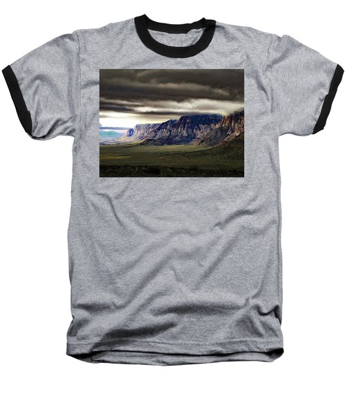 Stormy Morning In Red Rock Canyon Baseball T-Shirt by Alan Socolik