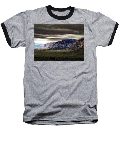 Stormy Morning In Red Rock Canyon Baseball T-Shirt by Alan Socolik