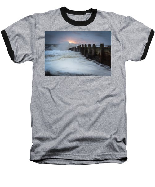 Stormy Morning Baseball T-Shirt
