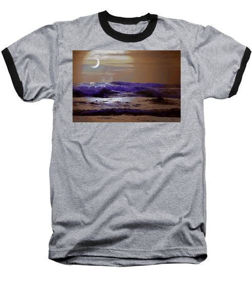 Ocean Baseball T-Shirt featuring the photograph Stormy Night by Aaron Berg