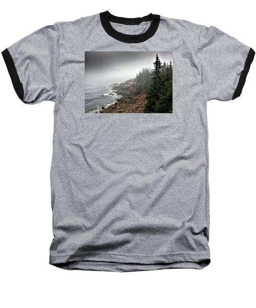 Stormy North Atlantic Coast - Acadia National Park - Maine Baseball T-Shirt by Brendan Reals