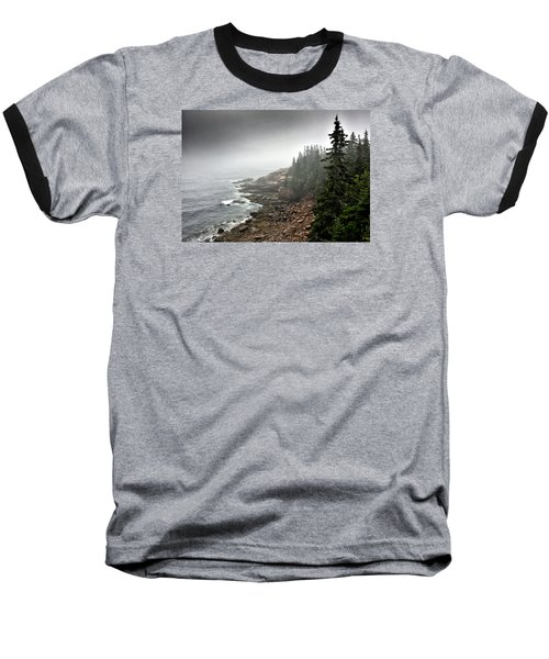 Stormy North Atlantic Coast - Acadia National Park - Maine Baseball T-Shirt