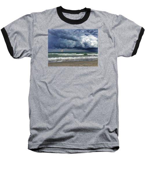 Stormy Ocean Baseball T-Shirt
