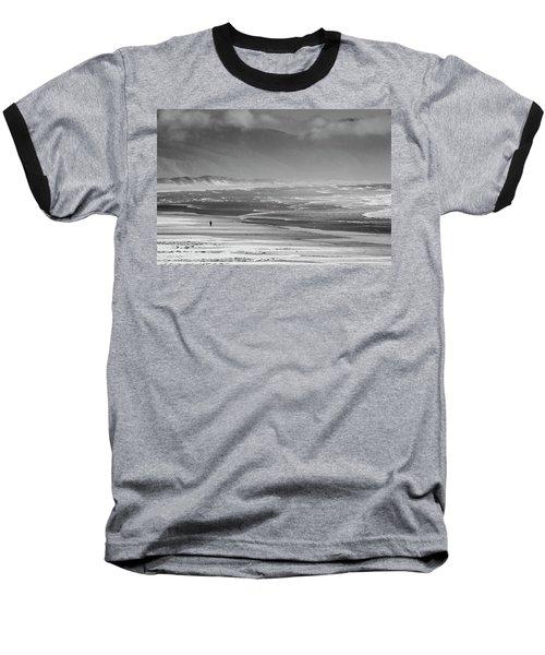 Stormy Oceanside Oregon Baseball T-Shirt by Amyn Nasser