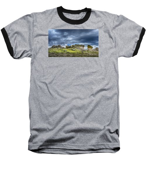 Stormy Peak 3 Baseball T-Shirt by Mary Angelini