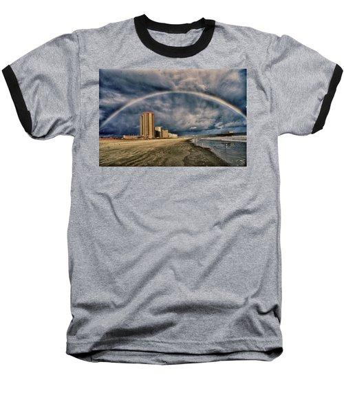 Stormy Rainbow Baseball T-Shirt by Kelly Reber