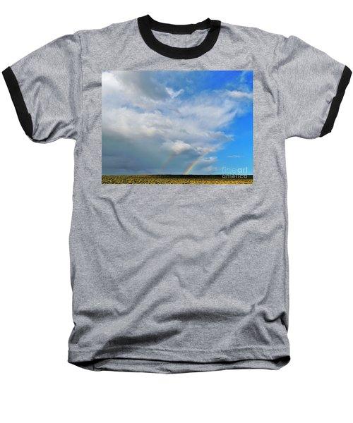 Thunder Storm Rainbow Baseball T-Shirt by Michele Penner