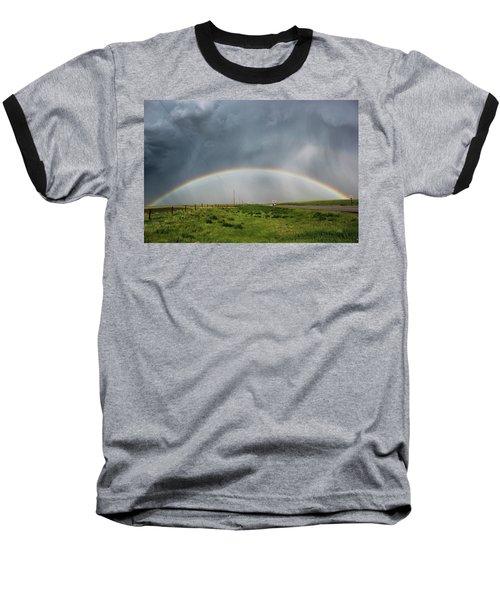 Stormy Rainbow Baseball T-Shirt by Ryan Crouse