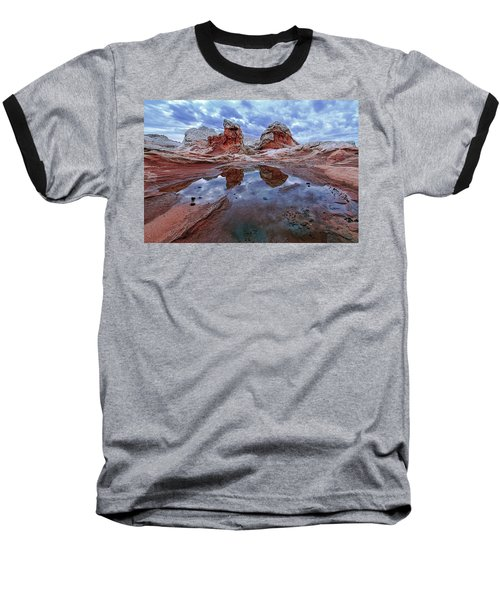 Stormy Reflection Baseball T-Shirt