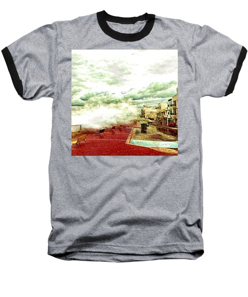 Stormy Sea Baseball T-Shirt