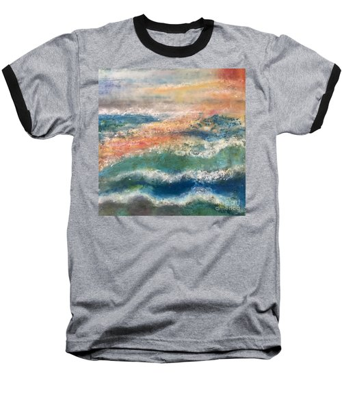 Baseball T-Shirt featuring the painting Stormy Seas by Kim Nelson