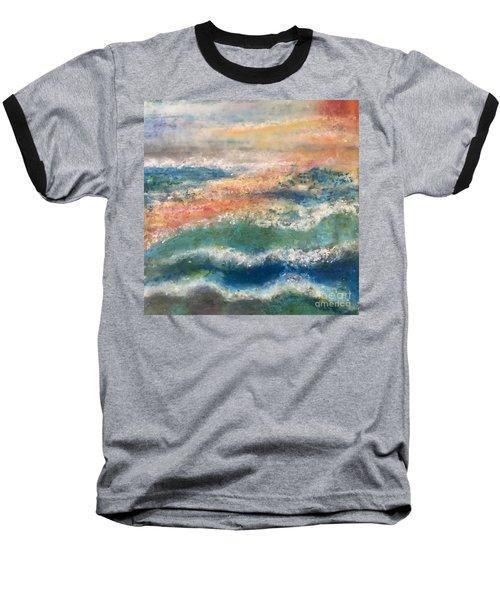 Stormy Seas Baseball T-Shirt by Kim Nelson
