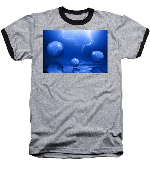 Stormy Skies - Blue Baseball T-Shirt