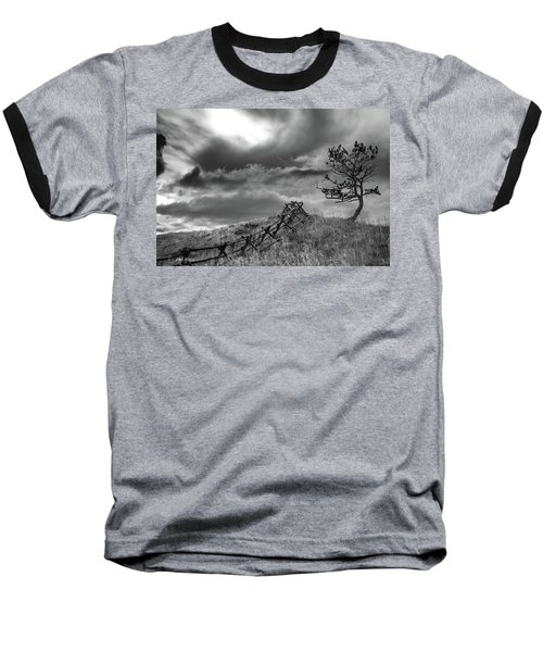 Stormy Sky At The Ranch Baseball T-Shirt