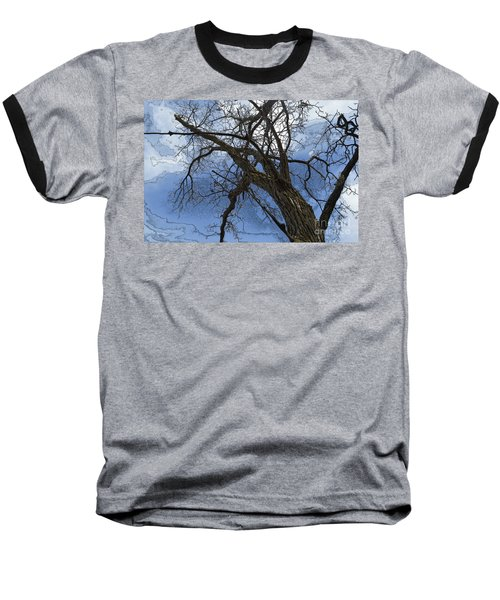 Stormy Sky Blue Baseball T-Shirt