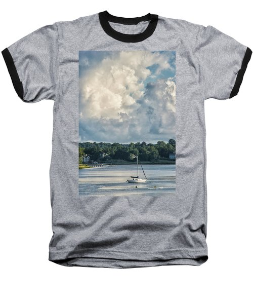 Stormy Sunday Morning On The Navesink River Baseball T-Shirt by Gary Slawsky