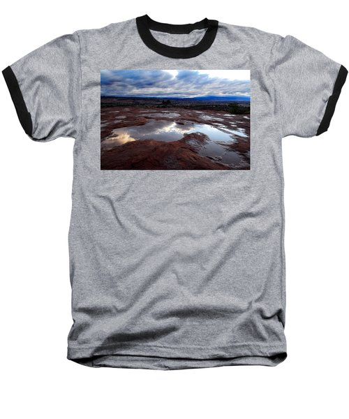 Baseball T-Shirt featuring the photograph Stormy Sunrise by Harry Spitz