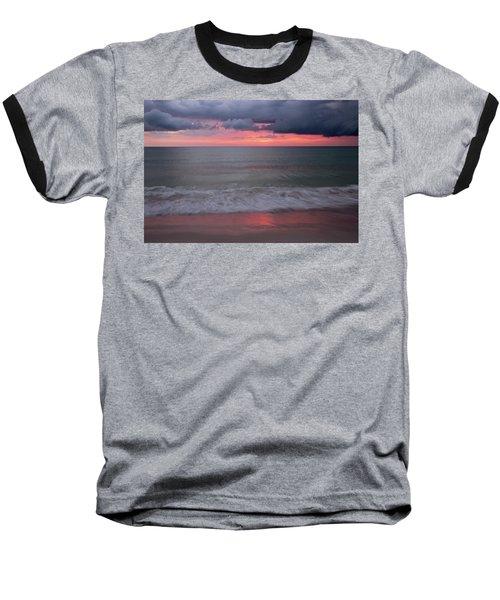 Stormy Sunset Baseball T-Shirt