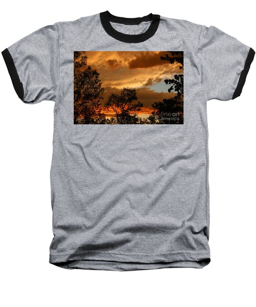 Stormy Sunset Baseball T-Shirt by Marilyn Carlyle Greiner
