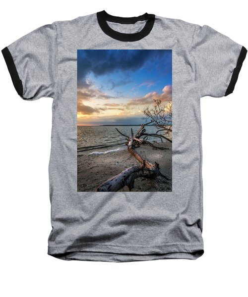 Baseball T-Shirt featuring the photograph Stormy Sunset by Marvin Spates