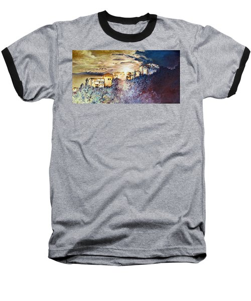 Stormy Sunset Baseball T-Shirt