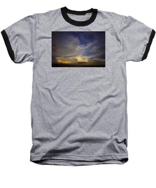 Baseball T-Shirt featuring the photograph Stormy Sunset by Toni Hopper