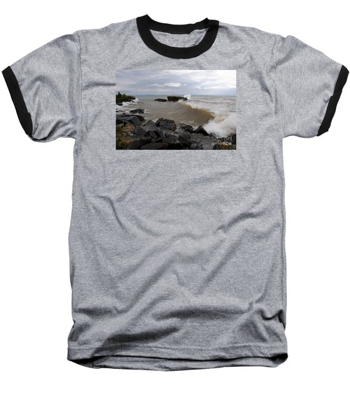 Baseball T-Shirt featuring the photograph Stormy Superior Morning by Sandra Updyke