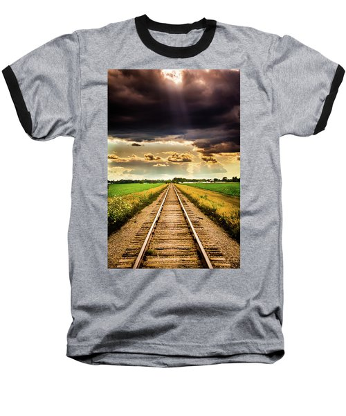 Stormy Tracks Baseball T-Shirt
